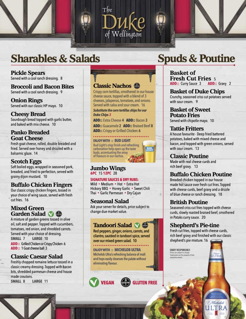 Shareables & Salads